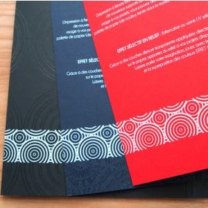 Impression blanche sur flyer papier couleur