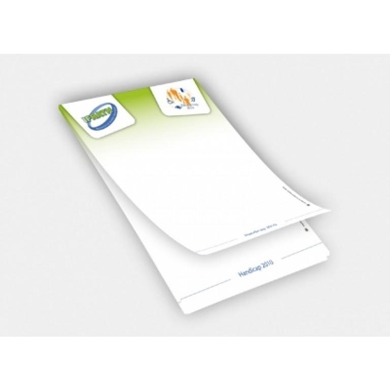Impression bloc notes personnalis bloc en papier - Comment ne plus recevoir de coup de telephone publicitaire ...