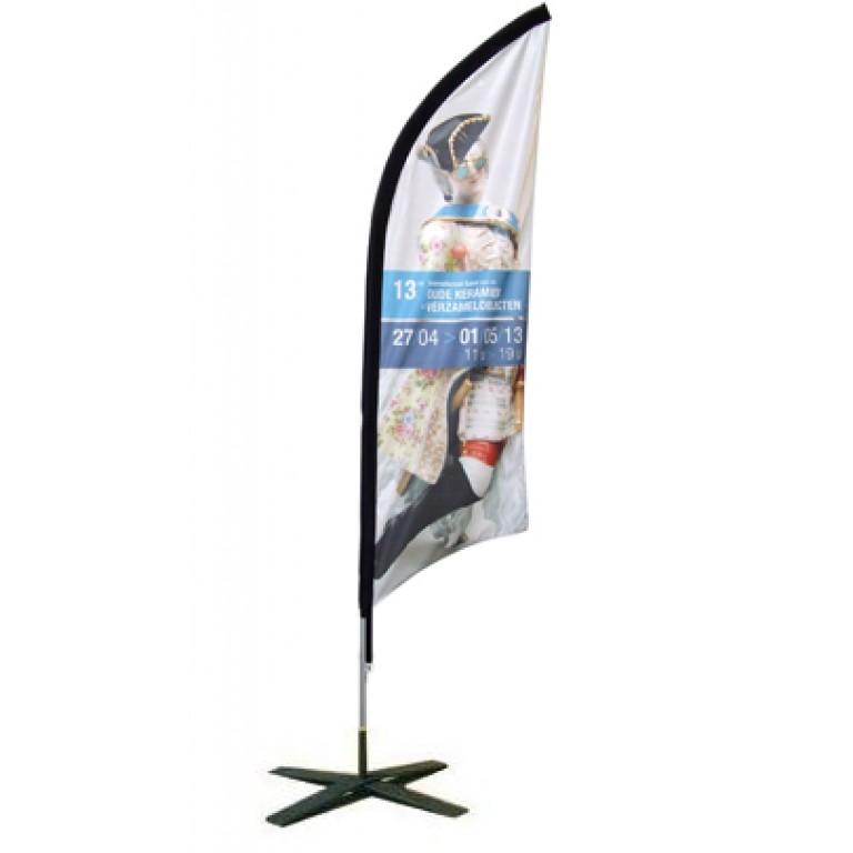 Impression de drapeau double face drapeau publicitaire for Drapeau publicitaire exterieur pas cher
