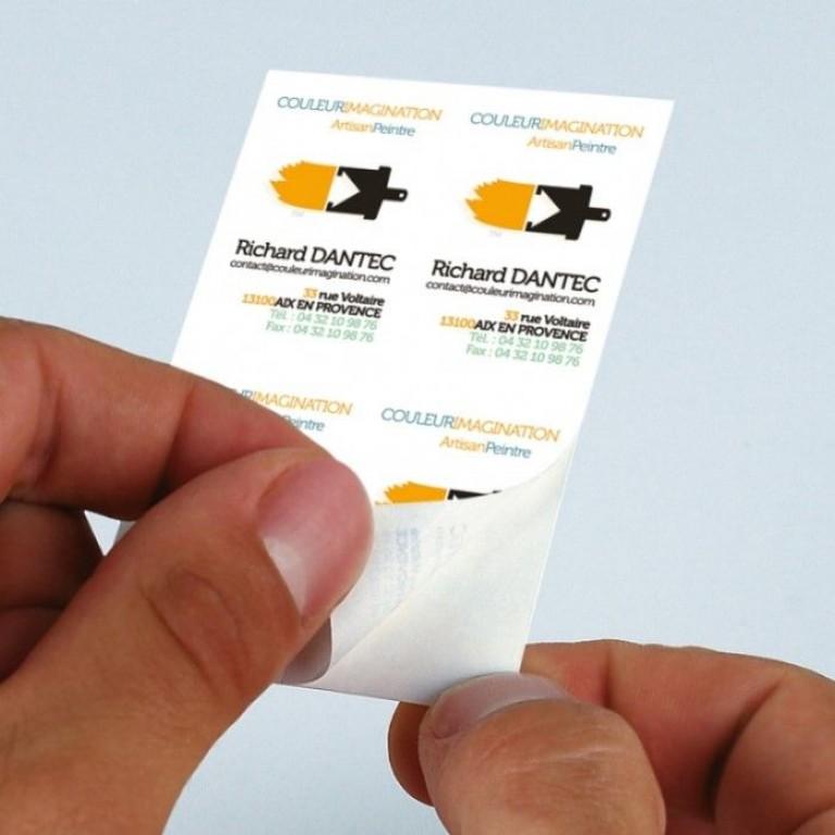 Carte De Visite Adhesive Imprimerie Autocollants Pas Cher