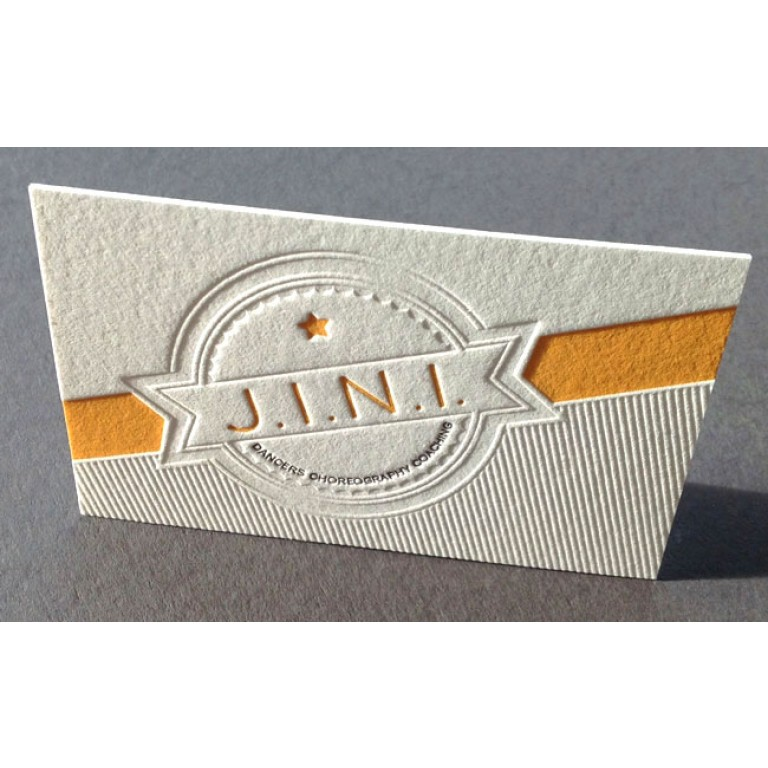 Imprimerie Cartes Letter Press Carte Debossage Imprimee Impression Debossee
