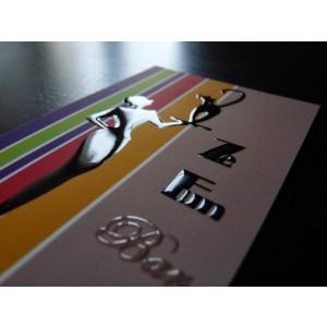 Carte vernis sélectif 3D