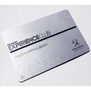 Impression cartes PVC nacrées perlés