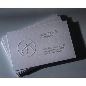 cartes de visite gaufrage