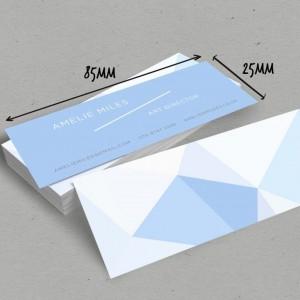 Impression de mini cartes visite