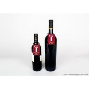 Impression collerette pour bouteille d'alcool