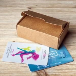 Boîte cartonnée pour carte de visite