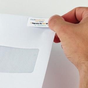 Impression cartes de visite adhésive