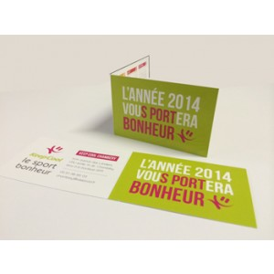 Impression cartes 2 volets