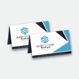 Impression de cartes de visites 2 volets