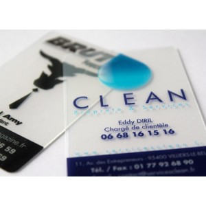 Cartes transparente pvc quadri