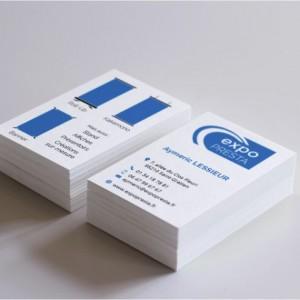 Impression de cartes en Bristol blanc