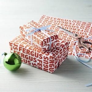 papier emballage cadeau personnalisé