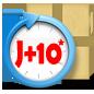 Livré en 10 jours auxquels il faut ajouter le temps du transport., en général 24h00 height=