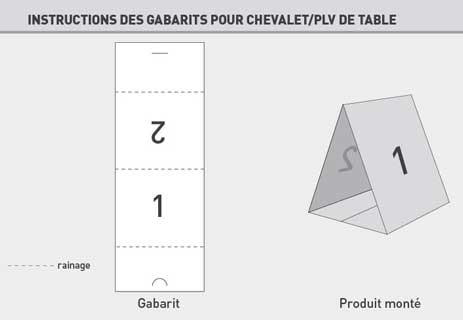 Top Impression de chevalet de table restaurants, chevalets, impression  RV78